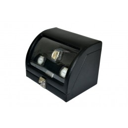 Stock 5 custodie rigide per parure esterno velluto nero interno velluto panna chiusura laterale