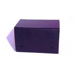 Stock 2 rotoli 36 anelline per bracciali esterno similpelle blu interno similpelle panna