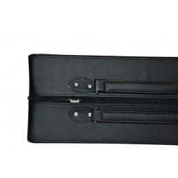 Astuccio in legno laccato nero con cuscino per 1 orologio 120x102xH74mm