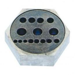 Rivettatura Beco in acciaio temprato 15 fori + 4 tagli
