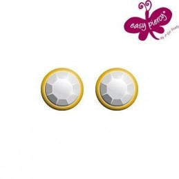 1 Pair EASY PIERCY COMFORT ear studs Ø 3,95 mm, gold plated, Diamond imitation