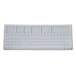 Vassoio grigio 21x54 cm per infilare le collane