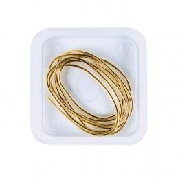 Canutiglia dorata per infilare le collane 1,2 mm