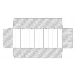 Rotolo 10 canali con anelline 250x750 mm