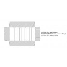 Rotolo 15 canali con anelline 250x750 mm