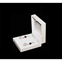 """Astuccio """"Polinesia"""" per orecchini/ pendenti 87x90 h 32 mm"""