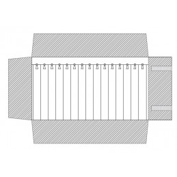 Rotolo 12 canali con laccetti 250x750 mm