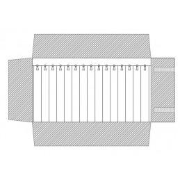 Rotolo 15 canali con laccetti 250x750 mm