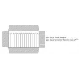 Rotolo 16 canali con laccetti 300x750 h30 mm