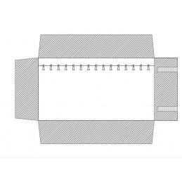 Rotolo 16 laccetti staccabili 250x750 h25 mm