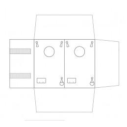 Mezzo rotolo 2 basi rigide per parure
