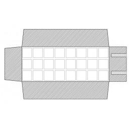 Mezzo rotolo 24 riquadri in gommapiuma 45x45