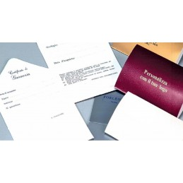 Certificado de garantia  personalizada 6x9 cm - conf.100pcs