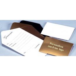 Certificado de garantia  personalizada 4x6 cm - conf.100pcs