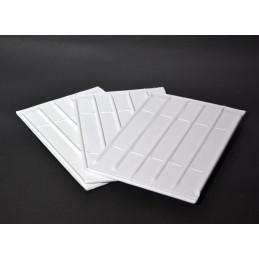 Placa rigida rectangular 5 canales con elastico 17x24 cm Individual