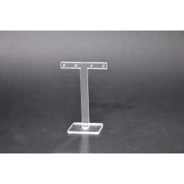 Plexiglass window display for 2 pairs of earrings h 9 cm