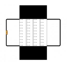 Rotolino 4 traversini per orecchini + velcro 175x325 mm
