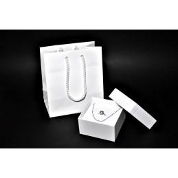 """Estuche """"Tessa bianca"""" más cortes 90x90 h55 mm + shopper"""