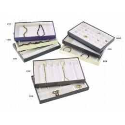 Couvette con 5 scomparti per bracciali/orologi 335x215xh30 mm