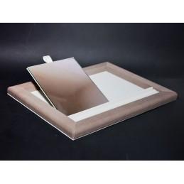 Vassoio da banco con vano per inserimento anelli + specchio 280x380 mm