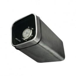 """Watch winder quadrato """"Eilux"""" per 1 orologio in alluminio scuro"""