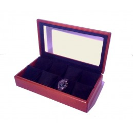 Presentation box with glass for 8 watches 260x200xh85mm
