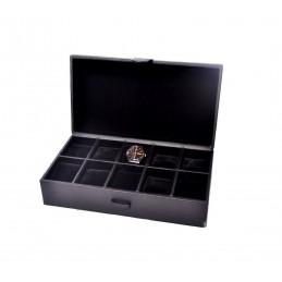 Estuche muestrario con 10 almohadillas para relojes 328x175 h 95 mm