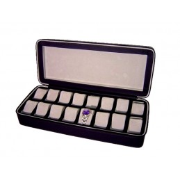 Case with zip closure for 16 watches 46x20,5h9 cm