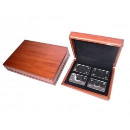 Estuche en madera 4 blister pequeño para diamantes 182x142 h5 mm