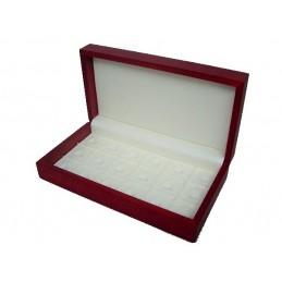 Marmotta in legno massello rosso 18 anelli 260x140x60 mm
