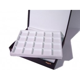 Presentation box 2 trays 40 individual squares(60x55mm)