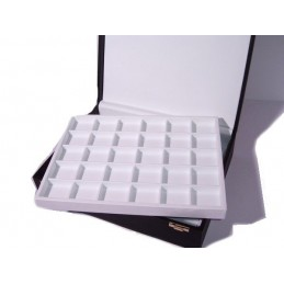 Presentation box 60 squares (45x50mm) with 2 trays