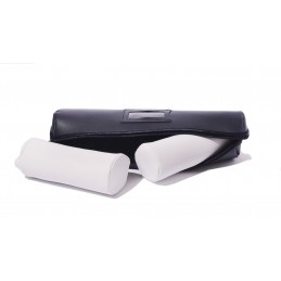 Long soft bangle case with 2 cylinder insides