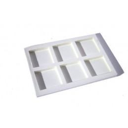 Stackable tray with 6 squares (65x65 mm) - 10 pieces