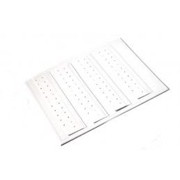 Hoja 4 aletas rectangulares cosidas para los pendientes