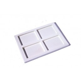Stackable tray with 4 squares (100x65 mm) - 10 pieces