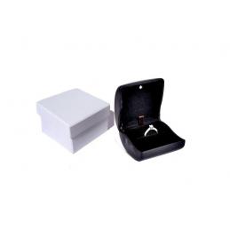 """Astuccio linea """"Luce"""" per anello modello base 68x74xh49 mm con led - nero"""
