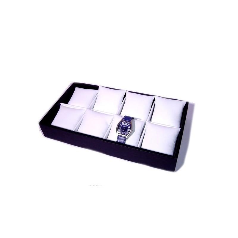 Couvette 8 buche con cuscini per orologi 335x195 h75 mm