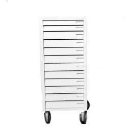 Cassettiera in legno Decapè Bianco 12 cassetti + ruote 285x370xh700mm