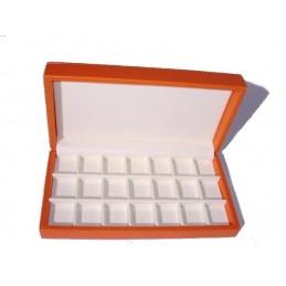 Marmotta per gemelli con 21 buche 3x3,5 cm - 25x13 h5,3 cm