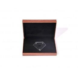 Astuccio per blister portadiamante in finto noce portadiamante