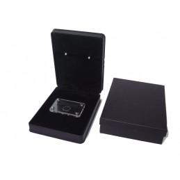 Jewelbox lizard serie with small plexiglass box for diamond  100x100xh55 mm