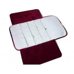 Rotolino per gioielli con 20 taschini per anelli 175x325 mm