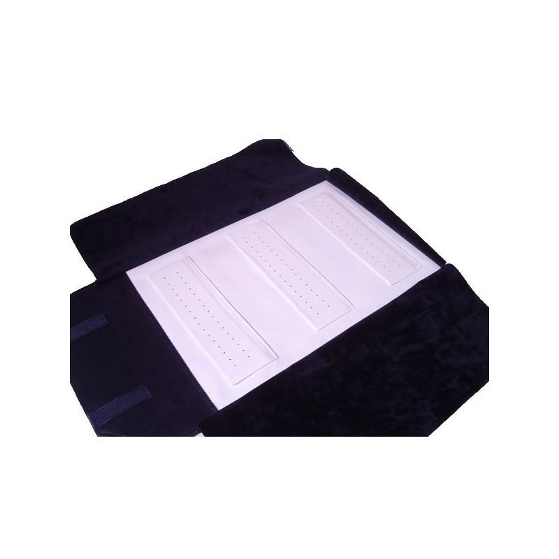 Mezzo rotolo 3 supporti fissi cuciti doppia fila di buchi