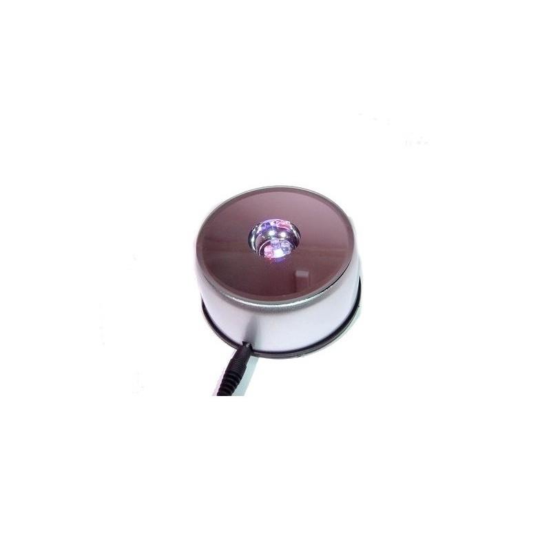 Espositore tondo girevole + luci multicolori 12x12 h4 cm