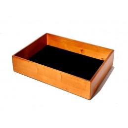 Vassoio in legno impilabile 37x27xh7cm