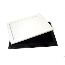 Display pad with wood frame and covered interior 280x380 mm