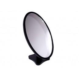 Espejo oval de madera negro...