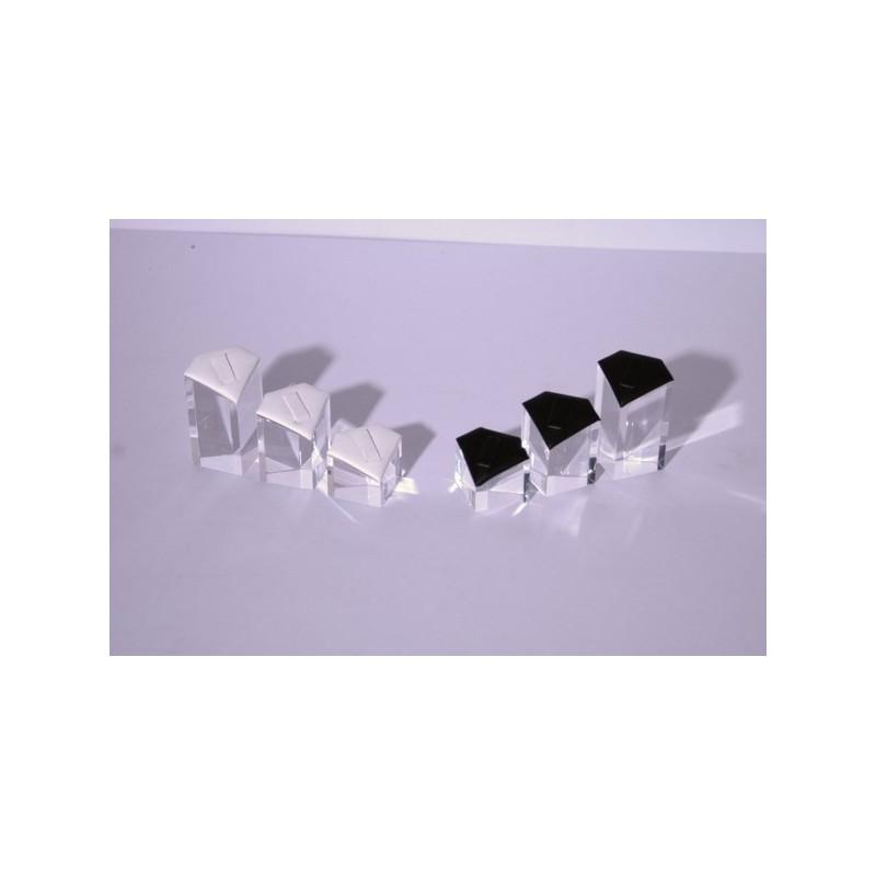 Espositore in plexiglass con scala a cuore per anelli - 3 pezzi