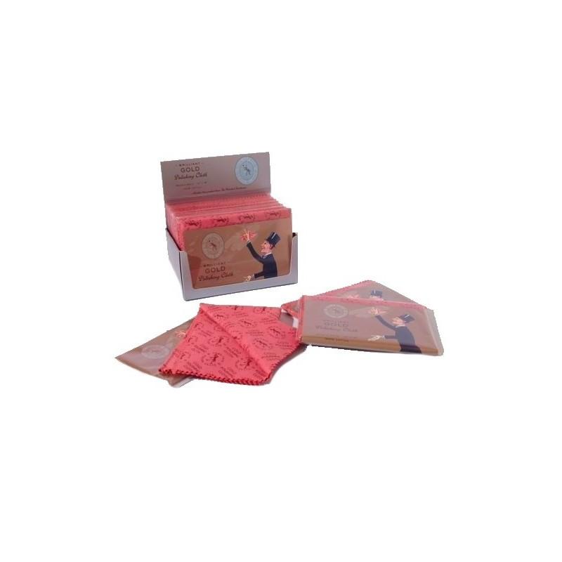 Panno per lucidare l'oro 30x45 cm - set da 12 pezzi